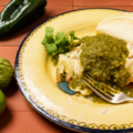 Chicken chile verde as prepared by PBS TV show food over 50