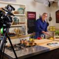 Food Over 50 host David Jackson on set preparing food