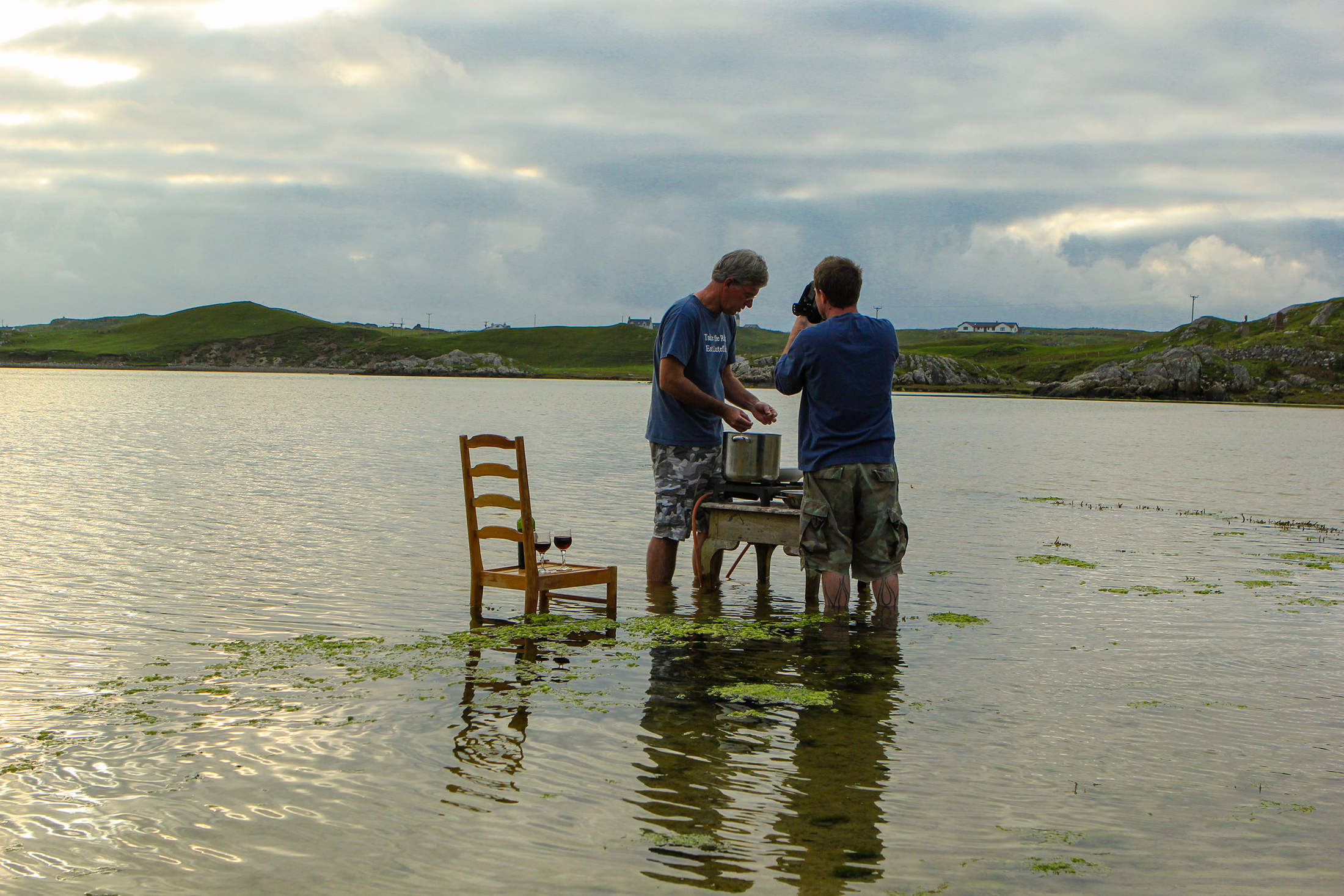 Food Over 50 host David Jackson and director Jonathan White shooting on location in Scotland