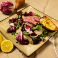 Steak salad as prepared by PBS tv show food over 50.
